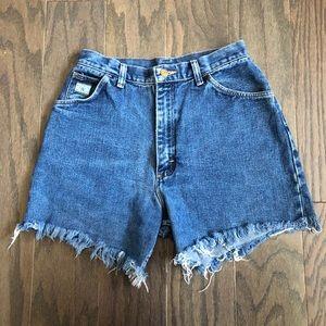 Vintage Wrangler High Waisted Jean Shorts